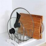 New Lifewit Adjustable Pan Rack Pot Lid Holder Cookware Kitchen Organizer Storage Solution