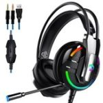 New A18 E-sport Headphone 3.5mm Earphone Stereo HiFi Gaming Headset With Mic for PC Mobile Phone