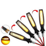 New 12V Motorcycle Flowing LED Turn Signal Indicator Amber Lights Universal