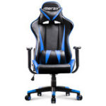 New Merax Office Chair High Back Racing Gaming Chair Ergonomic Computer Chair PU Leather Adjustable Height Rotating Lift Chair Folding Chair