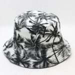 New Woman Men Printed Coconut Double-sided Usable Bucket Hat