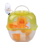 New Pet Carring Cage Portable Apple-shaped Hamster Cage Double Deluxe Plastic Outdoor Plastic Hamster Cage