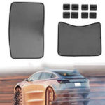 New Mesh Roof Car Window Sunshade Shield Cover For Tesla Model 3 Skylight Screen Shade Curtain