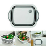 New 4 in 1 Foldable Multifunctional Board Tool Fruit Vegetables Sink Drain Storage Basket