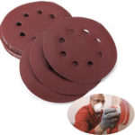 New 25pcs 400 Grit 5 Incch Sanding Disc Set 8 Holes Abrasive Polishing Sandpaper Sand Sheets