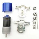 New 1 Set All Metal Transfer Gear Box Kit with 370 Motor WPL B16 B24 B36 C24 JJRC Q65 1/16 RC Parts