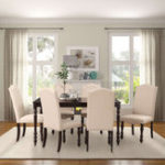 New 5 Pcs/1 Set Dining Table and Upholstered Chairs Tableware