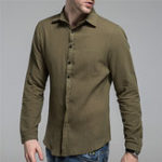 New Mens Summer Soft Thin Solid Color Casual Shirts