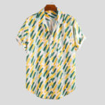 New Mens Summer Holiday Practical Pocket Printed Shirts