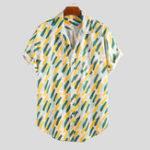 New Mens Summer Holiday Practical Pocket Printed Shirts