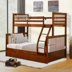 New Twin-Over-Full Bunk Bed with Ladders and Two Storage Drawers Double bed