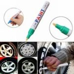 New 2Pcs Green Color Tyre Permanent Paint Pen Tire Metal Outdoor Marking Ink Marker Trendy