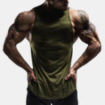 New Mens Gym Muscle Fitness Sports Solid Color Vest Tank Tops