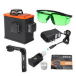 New 12 Line 360° Laser Level Wall Bracket Li-Ion Self-Leveling Green Light Measure