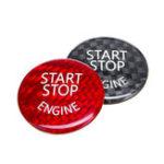 New Start Stop Engine Button Switch Carbon Cover For BMW E60 E90 E91 E92 E93 3 Series