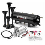 New Car 3 GAL 4 Trumpet Horn 200PSI Compressor Air Tank Onboard System Kit Boat Truck