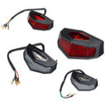 New 12V Red LED Motorcycle ATV Dirt Bike  Integrated Brake Stop Running Tail Light Without Bracket