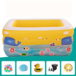 New Kids Baby Inflatable Swimming Pool Aerated Square Newborn Water Bathing Play Toy