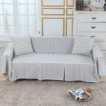 New Sofa Cover Couch Slipcover Cotton Blend 1-4 Seater Pet Dog Chair Covers Protector for Living Room