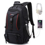 New Men Outdoor Hiking Backpack Sports Travel USB Port Camping Daypack Waterproof Bag