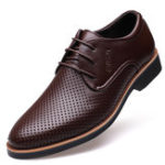 New Microfiber Breathable Hollow Out Business Casual Oxfords