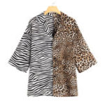 New Mens Fashion Snakeskin and Leopard Printed Patchwork Shirts
