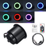 New RGB LED Light Drink Cup Holder For Marine Boat RV Car Yacht Remote Control Plastic