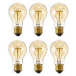 New 6PCS E27 A19 40W Warm White Dimmable Incandescent Edison Light Bulb for Indoor Home Garden AC220V