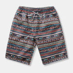 New Mens Ethnic Style Pattern Casual Beach Board Shorts