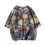 New Mens Vintage Ethnic Chinese Style Pattern Linen T-shirts