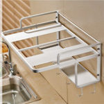 New 550x385x245mm Hanging Microwave Oven Stand Storage Rack Shelf Space Saving Kitchen Bracket Frame