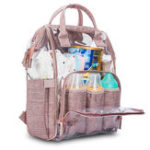 New Women Transparent Clear Jelly Patchwork PVC Mommy Bag