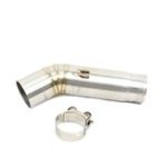 New 51mm Mid Exhaust Link Middle Connect Muffler Pipe Stainless Steel For Suzuki GSX R600 R750 K6/K7/K8 Motorcycle