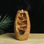 New Retro Ceramic Backflow Waterfall Smoke Incense Burner Censer Holder Decor+ Cones