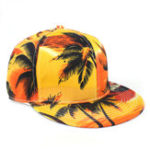 New Coconut Tree Seaside Baseball Cap Flat Along Hip Hop Hat