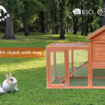 New Wooden Pet Bed House Anti-rust Metal Latch High-quality Fir Wood Pet Bed Rabbit House