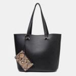 New Women 2 PCS Snake Pattern Clutch Minimalist Handbag