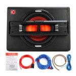 """New 10"""" 1200W Pro Car Active Boxed Subwoofer BASS HiFi Powered Amplifier Amp Sub"""