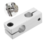 New Machifit Cross Connector Fixing Block Vertical Retaining Clip Optical Axis Holder for Linear Rail CNC Parts