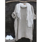 New Casual 3/4 Sleeve Round Neck Solid Color Dress