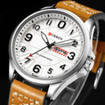 New CURREN 8269 Luminous Display Leather Band Quartz Watch