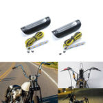 New 22mm 25mm Motorcycle Amber Signal Light For Harley Glide Touring For 12 16 In. Fat Mini-Ape/Batwing Mini-Ape Handlebar
