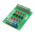 New 5pcs 12V To 3.3V 4 Channel Optocoupler Isolation Board Isolated Module PLC Signal Level Voltage Converter Board 4Bit