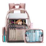 New Women Transparent Waterproof PVC Beach Bag Backpack