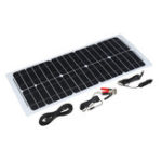 New 30W 12V Solar Power Panel Monocrystalline Silicon Semi-flexible Home Electricity