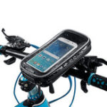 New Waterproof Touch Screen Phone Pouch Bag Motorcycle Cycling Bike Handlebar Tube Mount Rotatable