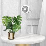 New LyRay UB-03 USB Chargig Mini Shower Clip Table Fan Lazy People Support Tube Led Make-up Light Lamp Fan