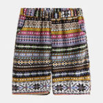 New Mens Summer Breathable Ethnic Style Casual Printed Shorts
