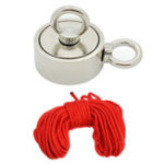 New Double Side 94mm 600KG Neodymium Recovery Magnet With 10m Rope Salvage Tool Strong Recovery Fishing Kits