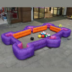 New 4.2×2.58M Inflatable Foot Pool Table Football Snook Ball Human Billiards Toys